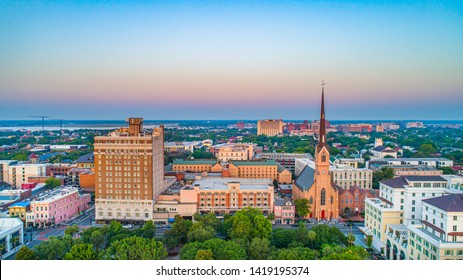 Charleston South Carolina SC Aerial.