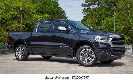 Charleston, South Carolina / United States: 2020 Ram 1500 Laramie Long Horn, Crew Cab, Rambox