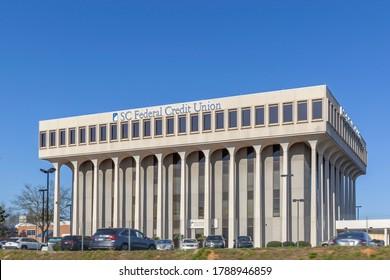 Charleston, South Carolina, USA - February 28, 2020: South Carolina Federal Credit Union Office building in Charleston, SC, USA, a credit union supervised by the National Credit Union Administration.