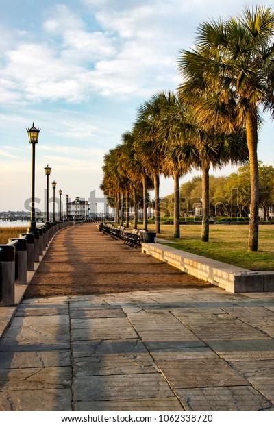 Charleston, South Carolina - Waterfront Park - at sunrise