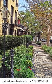 CHARLESTON, SOUTH CAROLINA-MARCH 19: A look down a street of historic Charleston known as Adgar's Wharf on March 19, 2011.  Charleston is one of the top ten tourist attractions in the world.