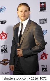 """Charlie Hunnam at the FX's Season 6 Premiere Screening of """"Sons Of Anarchy"""" held at the Dolby Theatre in Hollywood on September 7, 2013 in Los Angeles, California."""