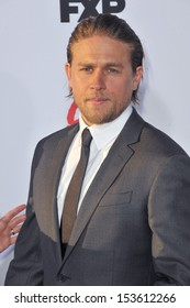 """Charlie Hunnam at the season 6 premiere of """"Sons of Anarchy"""" at the Dolby Theatre, Hollywood. September 7, 2013  Los Angeles, CA"""