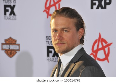 "Charlie Hunnam at the season 6 premiere of ""Sons of Anarchy"" at the Dolby Theatre, Hollywood. September 7, 2013  Los Angeles, CA"