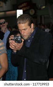 """Charlie Hunnam at the """"Sons of Anarchy"""" Season 5 Premiere, Wadsworth Theater, Santa Monica, CA 09-08-12"""