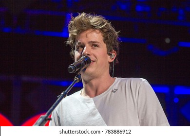 Charlie Puth at the Power 96.1 iHeartRadio 2017 Jingle Ball in Atlanta Georgia on December 15th 2017 at the Phillips Areana