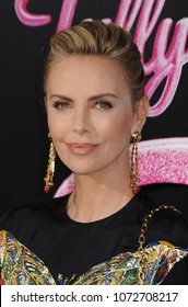Charlize Theron at the Los Angeles premiere of 'Tully' held at the Regal LA LIVE Stadium 14 in Los Angeles, USA on April 18, 2018.