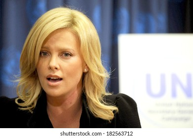 Charlize Theron at the press conference for Charlize Theron Named United Nations Messenger of Peace, The United Nations, UN, New York, November 17, 2008