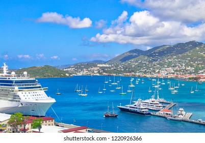 Charlotte Amalie Bay in Saint Thomas Island