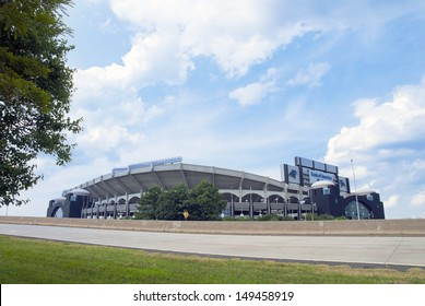 CHARLOTTE - AUGUST 2: The Bank of America Stadium, Charlotte August 2, 2013. The Bank of America Stadium is home of the Carolina Panthers NFL pro football team.