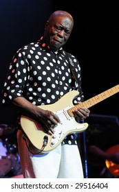 CHARLOTTE, NC - APRIL 30 2009: Legendary blues guitar player Buddy Guy performs live in concert at the Halton Theater in Charlotte