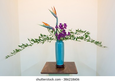 CHARLOTTE, NC --  February 28, 2016:  A display of ikebana, the Japanese art of flower arranging, at the Southern Spring Home & Garden Show.