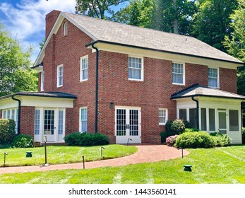 Charlotte, NC - July 2, 2019: Childhood home of Billy Graham the famous preachers of Gods word.