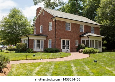 Charlotte, NC - July 5, 2019: Home where Billy Graham the preacher grew up as a boy.