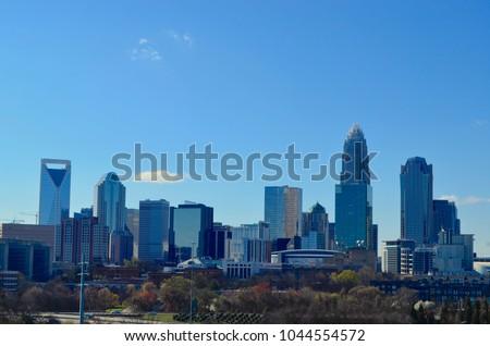 Charlotte Nc Uptown Skylines Sky Scrapers Stock Photo Edit Now