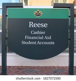 Charlotte, NC / USA - Feb 22, 2020: Reese Building Sign UNCC