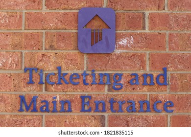 Charlotte, NC / USA - February 22, 2020: UNCC Ticketing & Entrance Sign