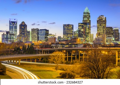 Charlotte, North Carolina, USA downtown skyline.