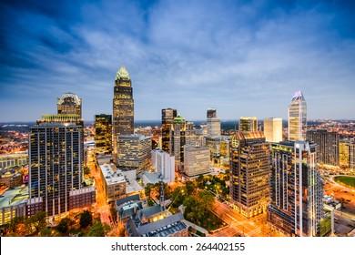 Charlotte, North Carolina, USA Skyline.