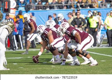 CHARLOTTE, NORTH CAROLINA/USA – DECEMBER 29 2017: The 2017 NCAA College Football 'Belk Bowl' Texas A&M University vs Wake Forest University at the Bank of America Stadium.