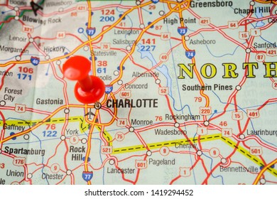 Map of Charlotte Stock Photos, Images & Photography | Shutterstock Charlotte In Usa Map on