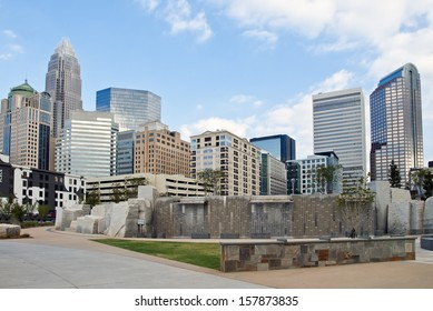 CHARLOTTE - SEPTEMBER 24: The Charlotte city skyline September 24, 2013. Charlotte is a major U.S. financial center, the second largest financial center by assets following New York City.