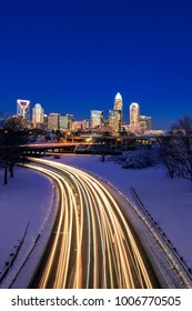 Charlotte winter skyline