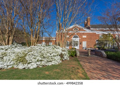 CHARLOTTESVILLE, VA, USA - APRIL 15: Newcomb Hall at the University of Virginia on April 15, 2016 in Charlottesville, Virginia.
