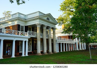 Charlottesville, VA /USA - Oct 16 2017: University of Virginia campus building