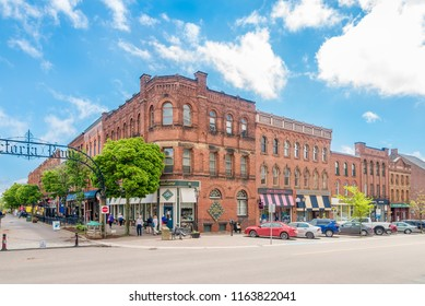 CHARLOTTETOWN,CANADA - JUNE 19,2018 - Buildings in the streets of Charlottetown. Charlottetown is the capital and largest city of the Canadian province of Prince Edward Island