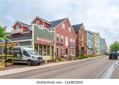 CHARLOTTETOWN,CANADA - JUNE 19,2018 - In the streets of Charlottetown. Charlottetown is the capital and largest city of the Canadian province of Prince Edward Island