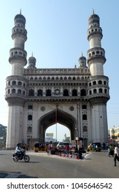 Charminar, Hyderabad, India - 22 October 2015 : Charminar Monument in Hyderabad, India