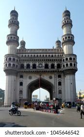 Charminar, Hyderabad, India - 22 October 2015 : Charminar Monument in Hyderabad, India