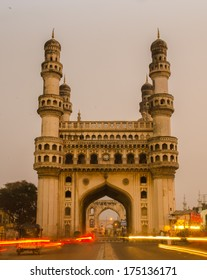 Charminar the iconing building of the city of Hyderabad.