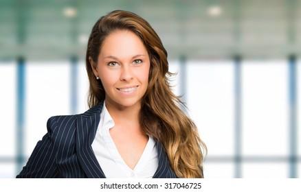 Charming businesswoman portrait