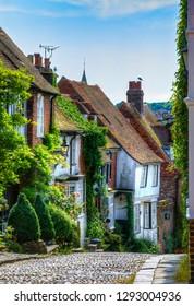 Charming Houses in Beautiful, Cobbled Mermaid Street, Rye, England