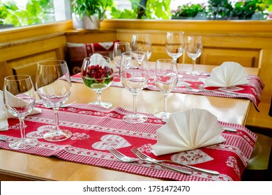 A charming and inviting restaurnt table