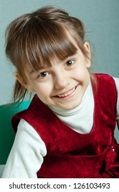 charming little girl is having fun and smile