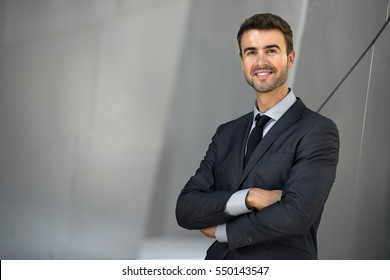 Charming male attorney possibly accountant banker executive business lawyer finance man