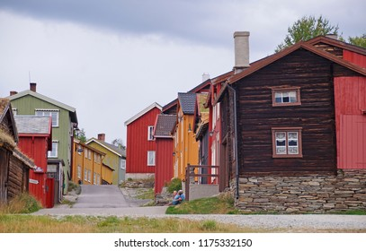 The charming mining town of Roros in the center of Norway an on UNESCO's list of World Heritage Sites