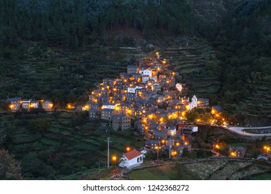 Charming Piodao. A  Schist Heritage, remote  village in Central Portugal nestled on the side of the mountains of Serra do Acor. Piodao Portugal.