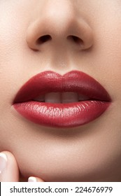 Charming red lips