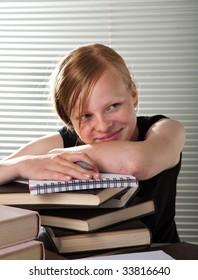 Charming schoolgirl