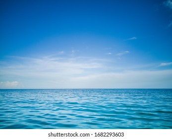 The charming sea image on a beautiful blue day is perfect as a design background.