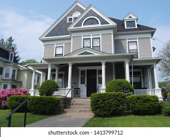 Charming stately Victorian house front