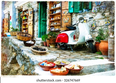 charming traditional shops of Greece - artistic picture