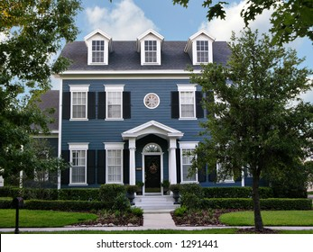 charming, two-story colonial home in small town America