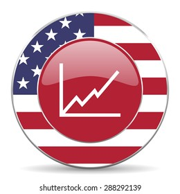 chart american icon original modern design for web and mobile app on white background
