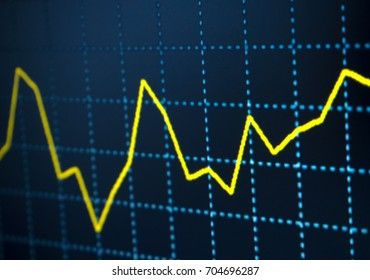 chart and graph of stock market/Business and financial concept economy concept