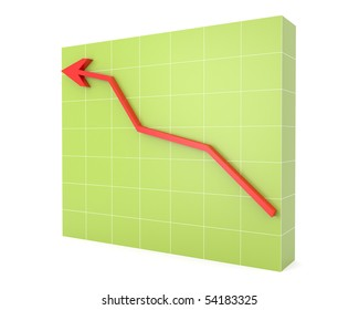 Chart with growing up arrow
